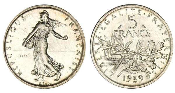 Ma pi ce de 5 francs est elle en argent journal de l 39 or - Valeur ancienne piece ...