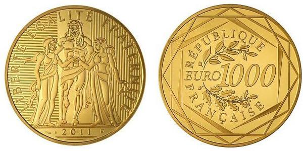 Pièce française de 1000 euros