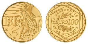 Pièce française de 100 euros