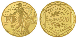 Pièce française de 500 euros