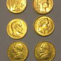 Lot de 6 pièces or